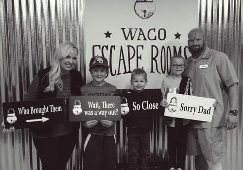 Group at Waco Escape Rooms